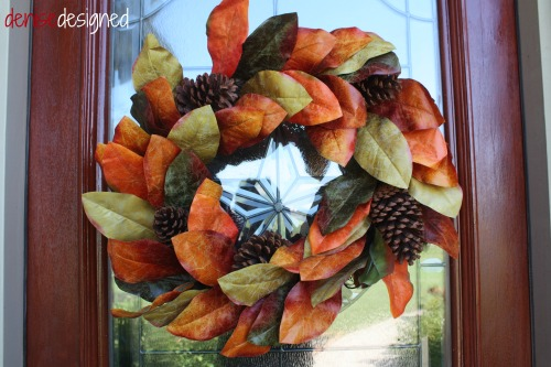fall tour front door wreath