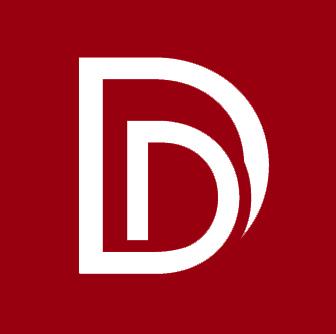 DD square logo deep red