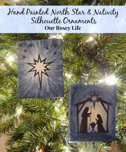 Hand-painted-north-star-Nativity-silhouette-ornaments-on-night-time-tree2