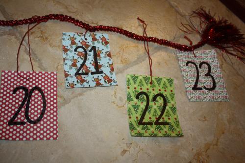 advent calendar rope