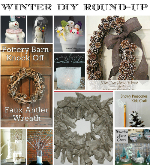 Winter diy feature collage