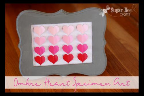 ombre heart specimen art