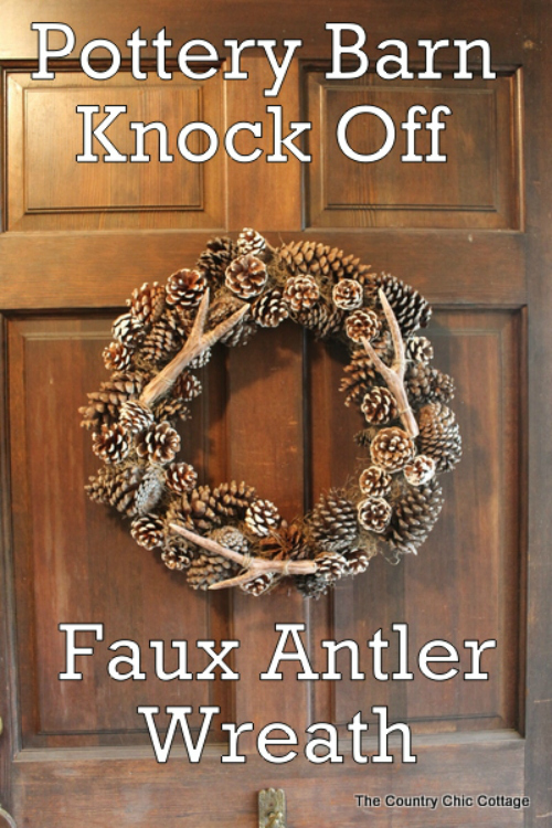 pottery barn knock off faux antler wreath-011