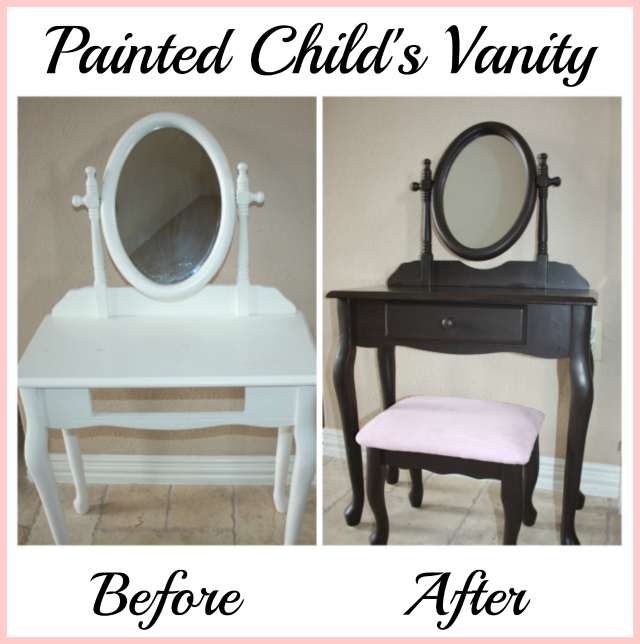 childs vanity before and after