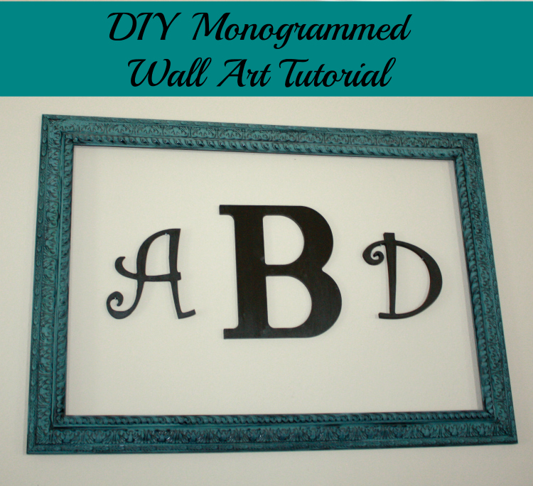 diy monogrammed wall art final 750