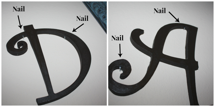 diy monogrammed wall art nails 750