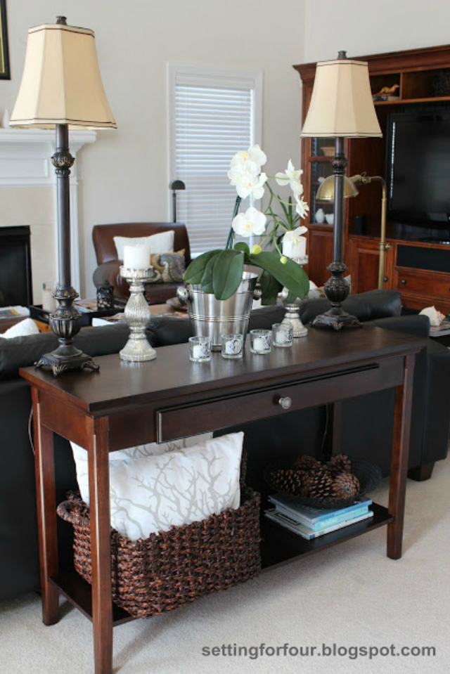 Setting for Four Living Room and How to Style a Sofa Table