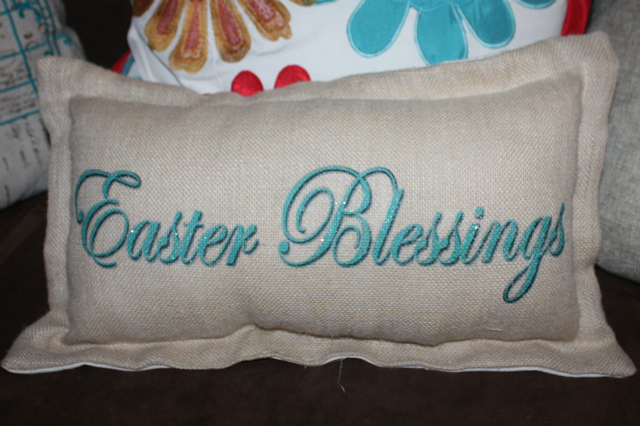 Spring Home Tour Easter Pillow