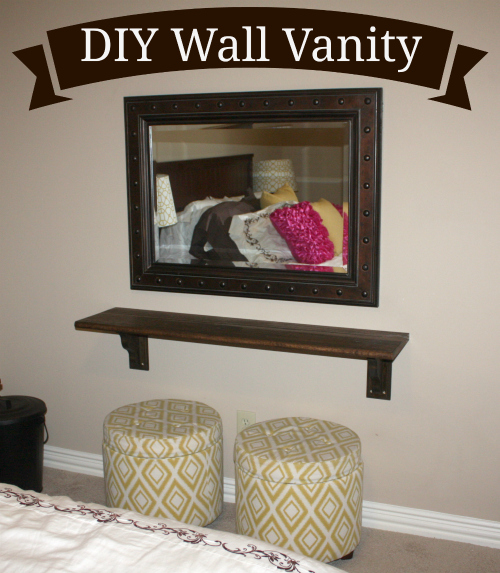 DIY a Floating Wall Vanity.  This was made for my guest room!