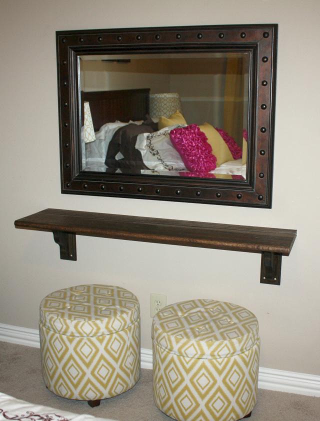 Final Floating Wall Vanity in Guest Room