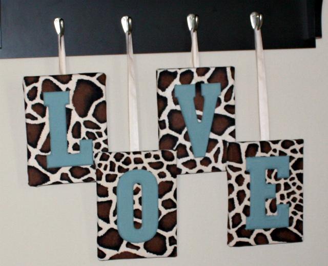 love wall art letters