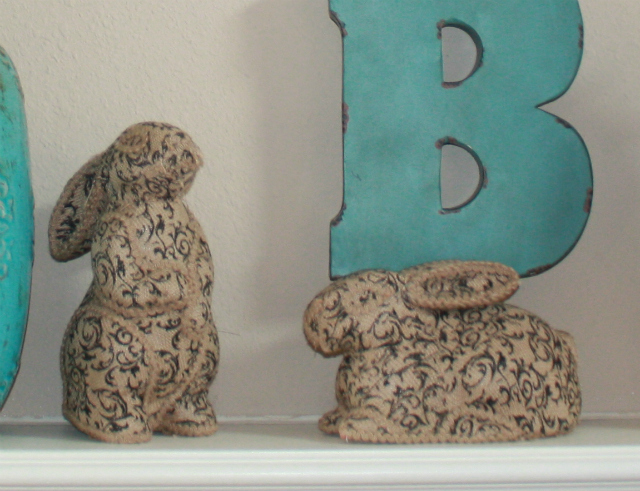 swing into spring mantel bunnies