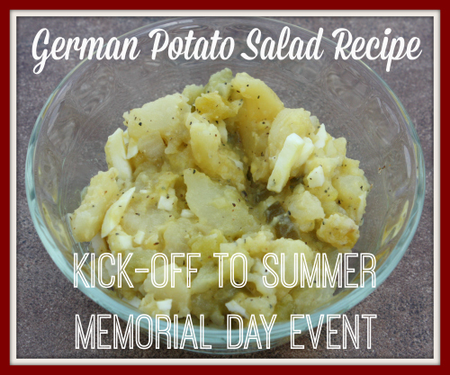 German Potato Salad {Kick-off to Summer Memorial Day Event} and Giveaway