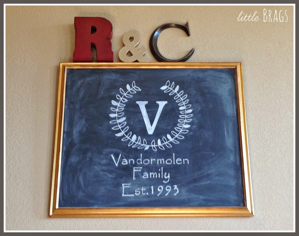 diy chalkboard and monogram tutorial