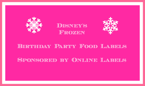 Disney's Frozen Food Labels Video Tutorial