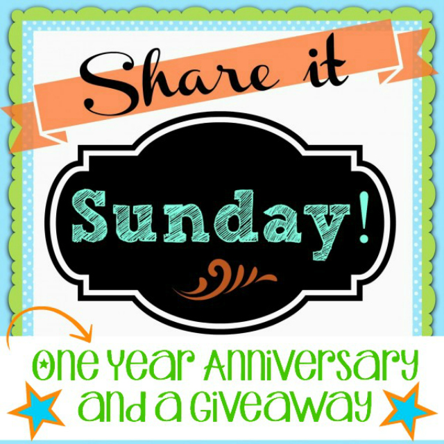 One Year Anniversary Share It Sunday Banner 640