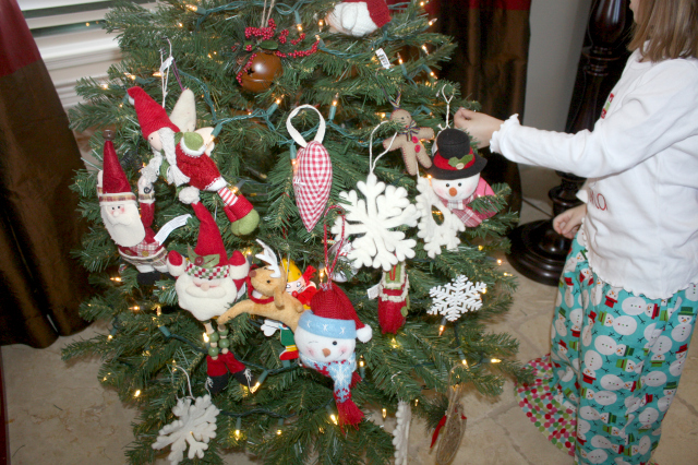 christmas ornaments bunched together