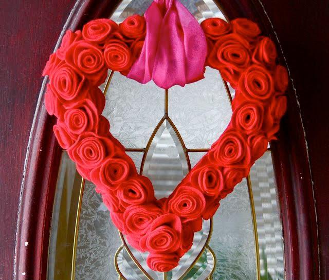 Felt Valentine Heart Wreath