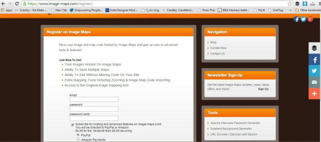 image maps register