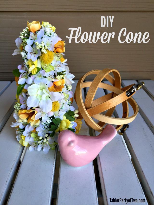 diy flower cone